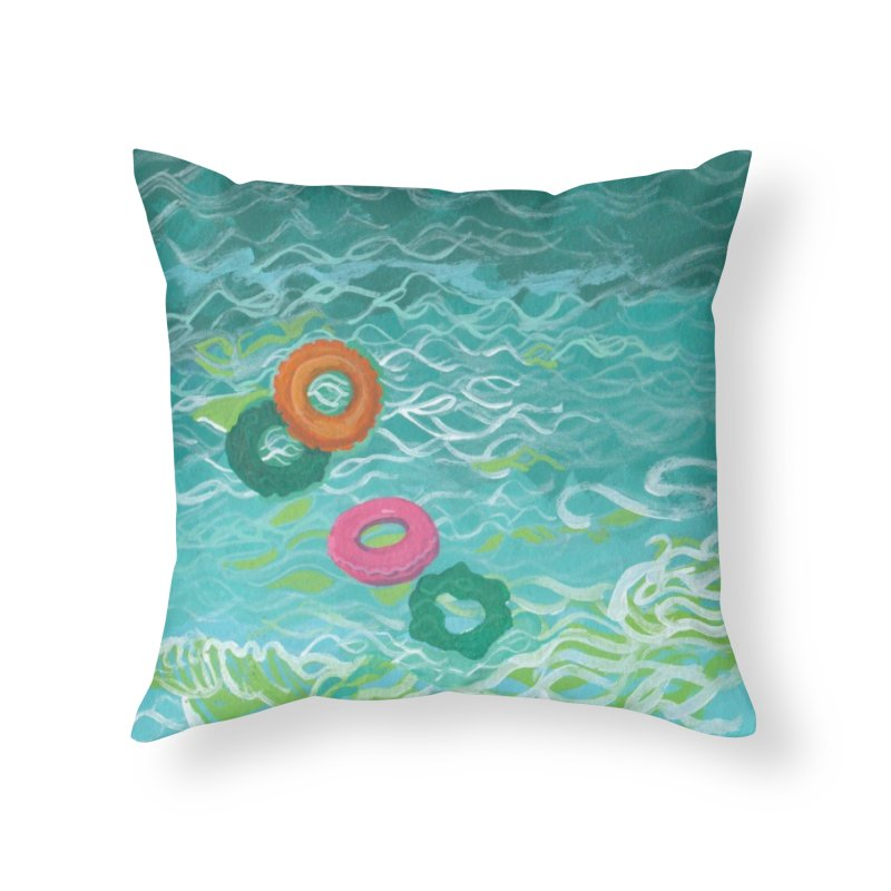 Floaties Home Throw Pillow by ccmicheau's Artist Shop