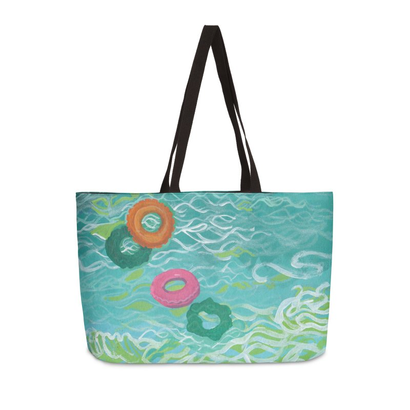 Floaties Accessories Weekender Bag Bag by ccmicheau's Artist Shop