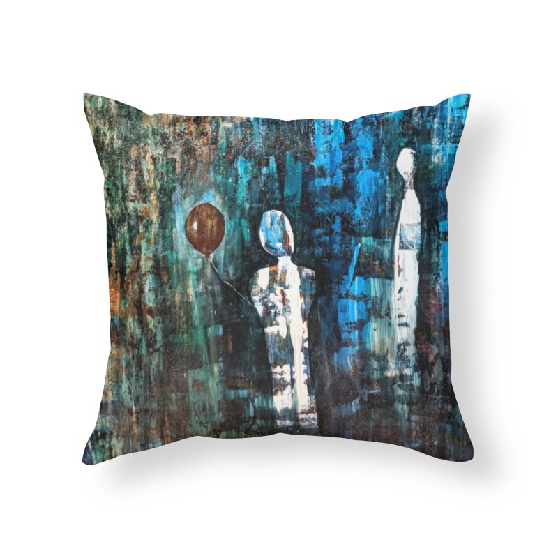 Memory Home Throw Pillow by C. Cooley's Artist Shop