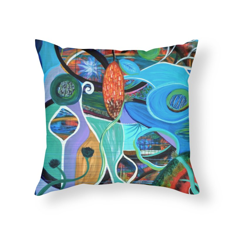 Renewal Home Throw Pillow by C. Cooley's Artist Shop