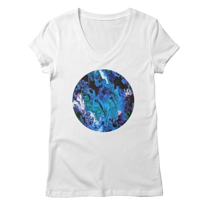 Rumination Women's V-Neck by C. Cooley's Artist Shop