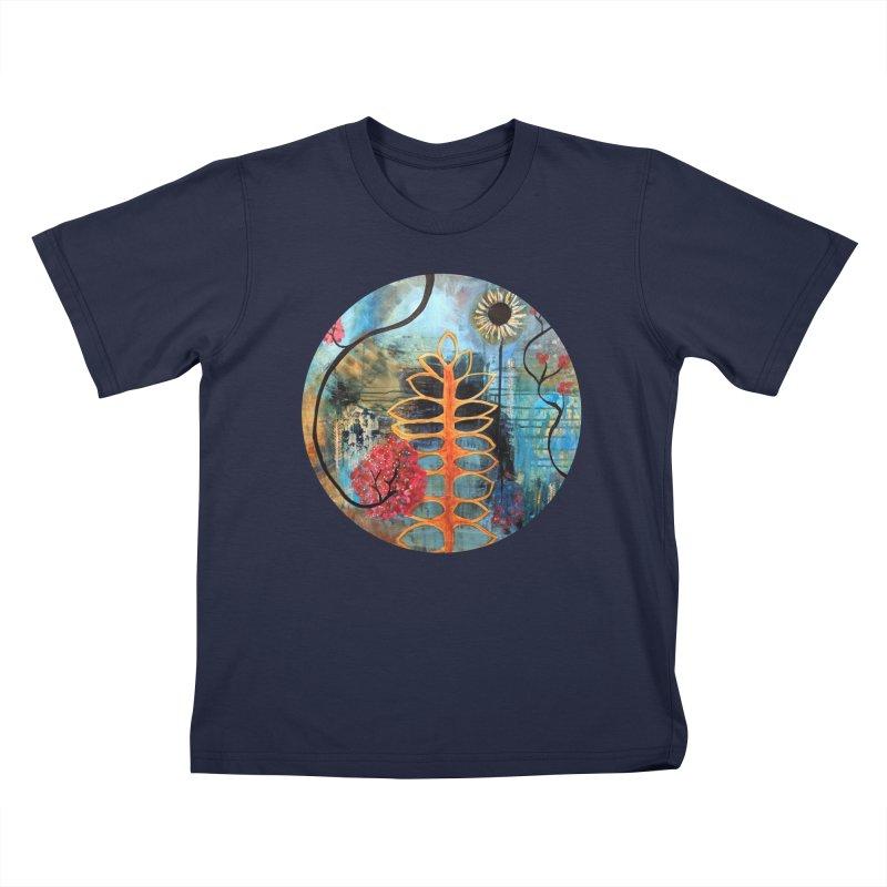 Rains Kids T-Shirt by C. Cooley's Artist Shop