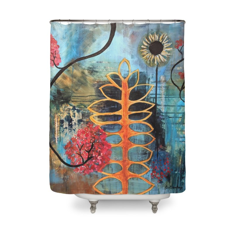Rains Home Shower Curtain by C. Cooley's Artist Shop