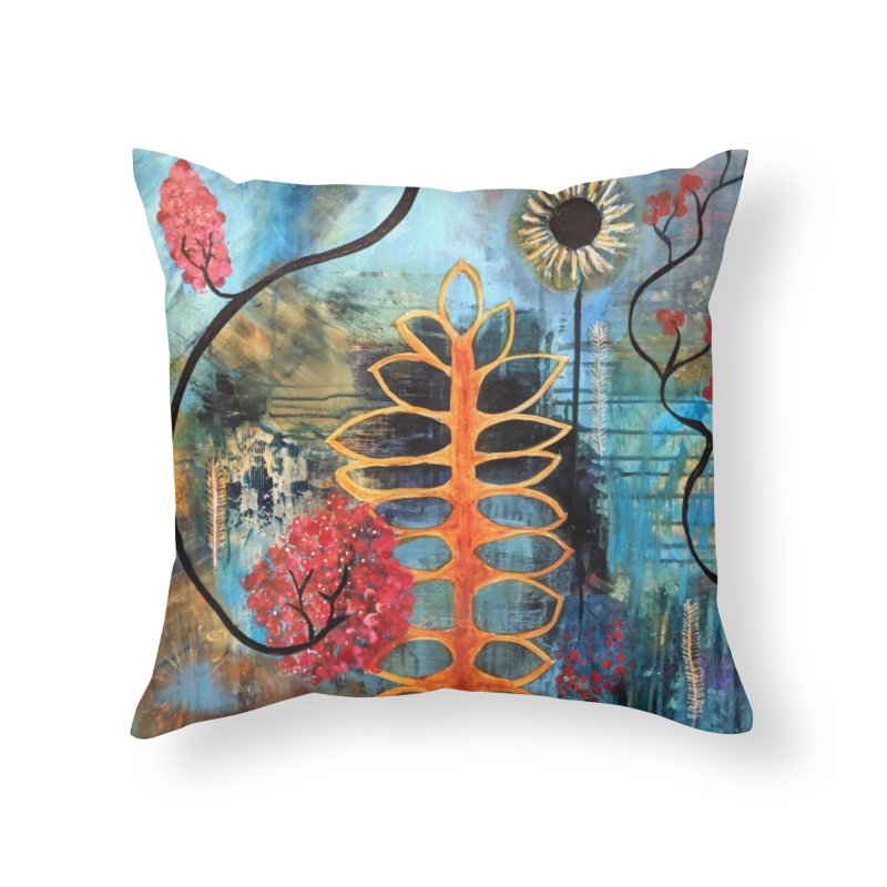 Rains Home Throw Pillow by C. Cooley's Artist Shop