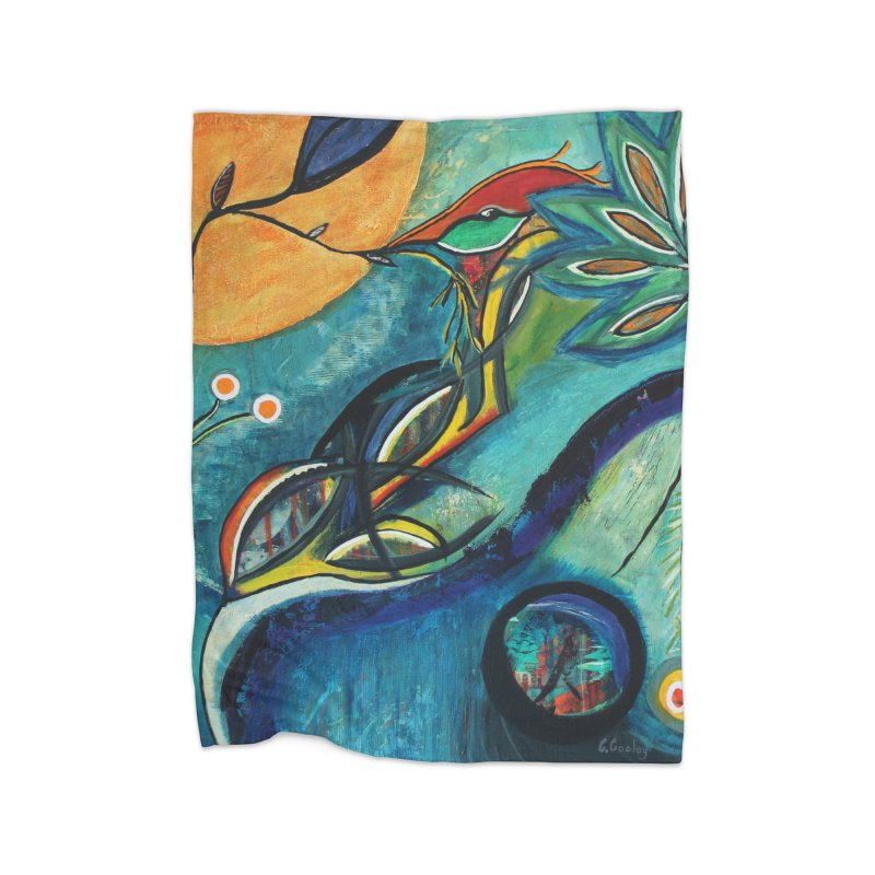 Glimmer Home Blanket by C. Cooley's Artist Shop