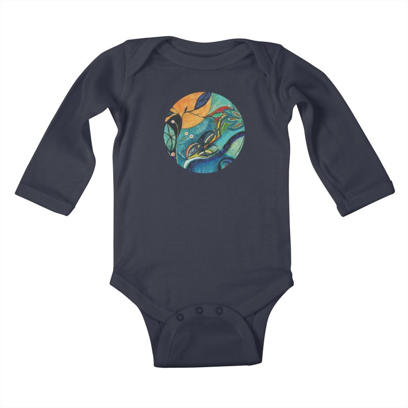 Glimmer Kids Baby Longsleeve Bodysuit by C. Cooley's Artist Shop