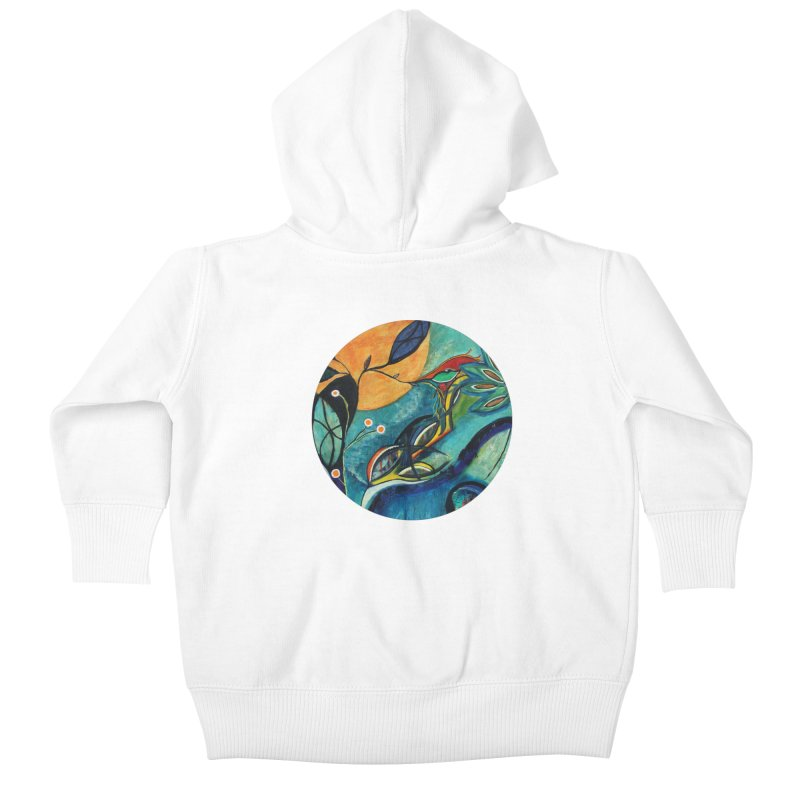Glimmer Kids Baby Zip-Up Hoody by C. Cooley's Artist Shop