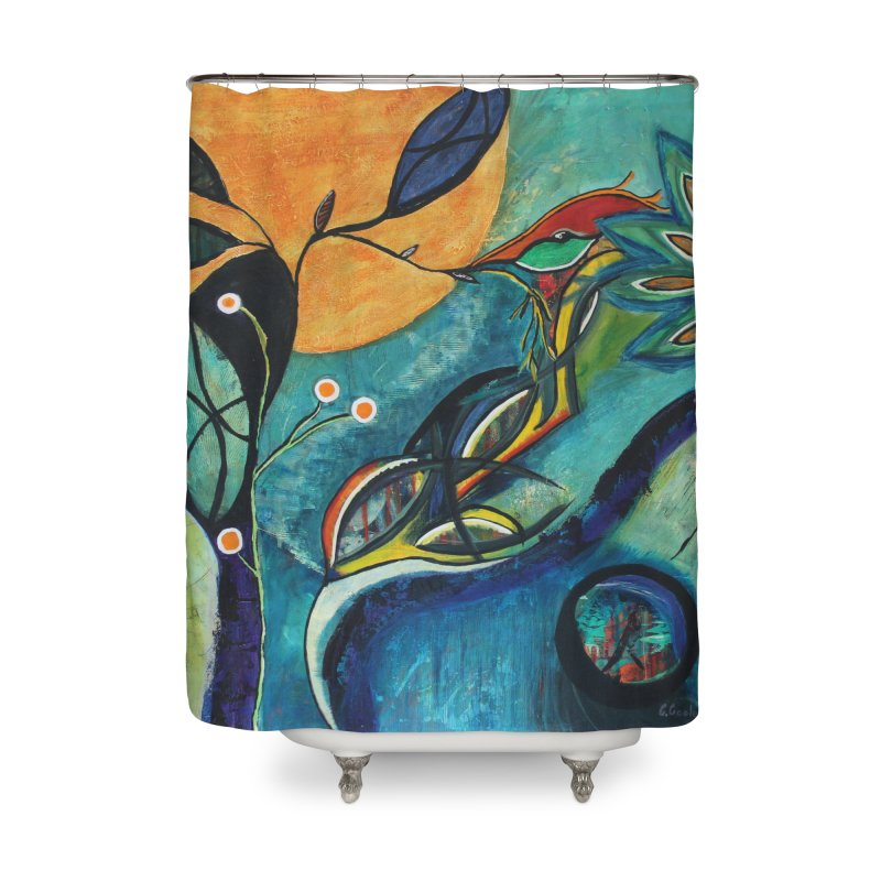 Glimmer Home Shower Curtain by C. Cooley's Artist Shop