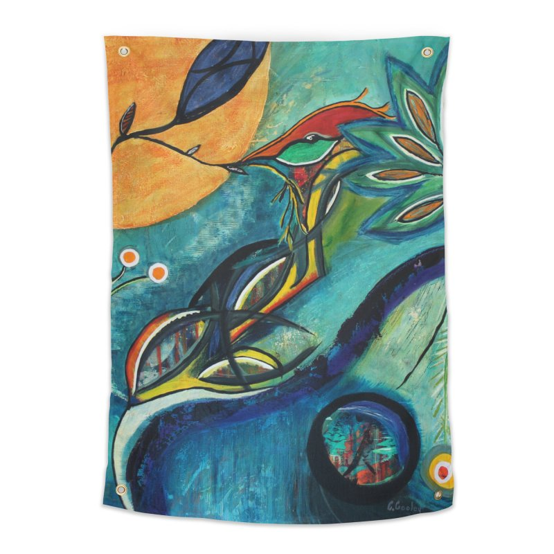 Glimmer Home Tapestry by C. Cooley's Artist Shop