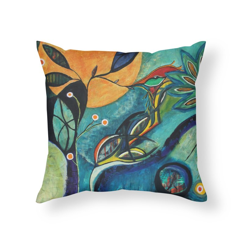 Glimmer Home Throw Pillow by C. Cooley's Artist Shop