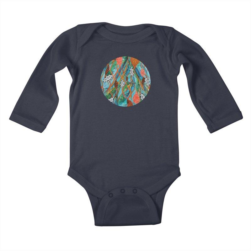 Spinner Kids Baby Longsleeve Bodysuit by C. Cooley's Artist Shop