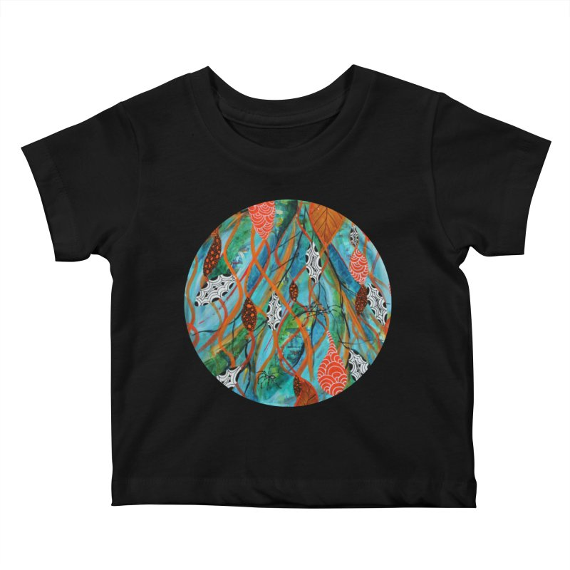 Spinner Kids Baby T-Shirt by C. Cooley's Artist Shop