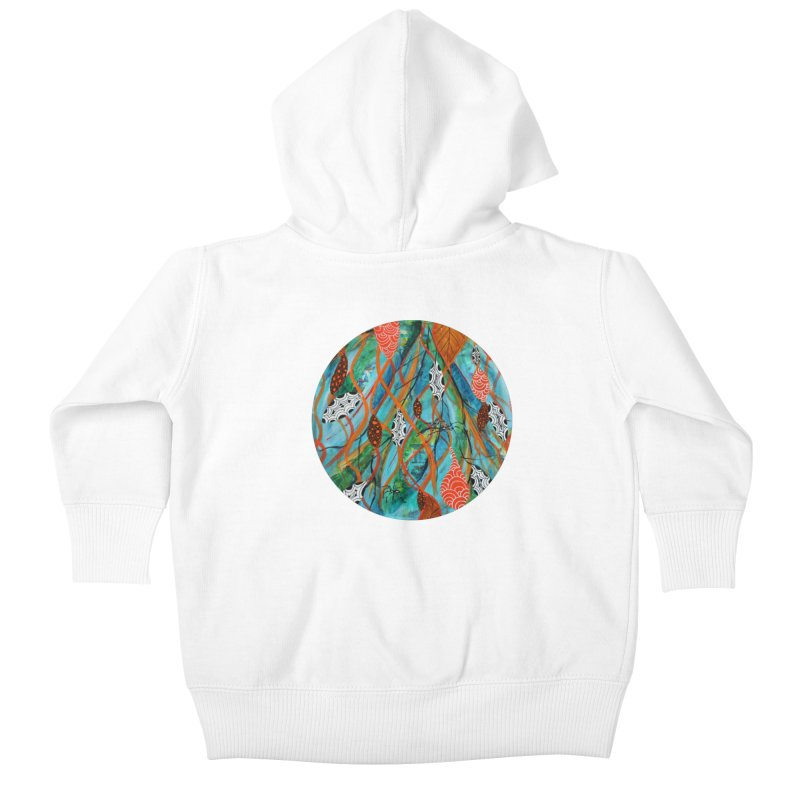 Spinner Kids Baby Zip-Up Hoody by C. Cooley's Artist Shop