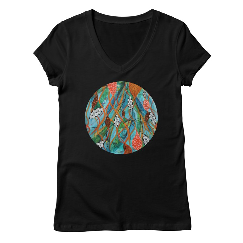 Spinner Women's V-Neck by C. Cooley's Artist Shop