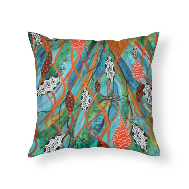 Spinner Home Throw Pillow by C. Cooley's Artist Shop