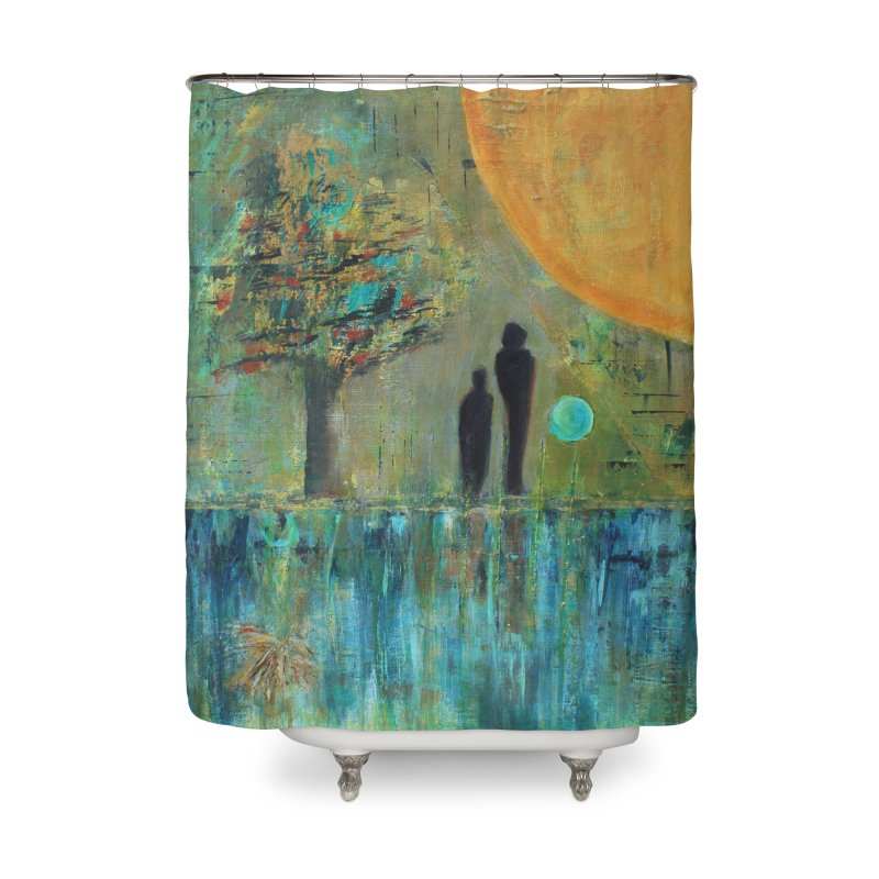 Beyond Home Shower Curtain by C. Cooley's Artist Shop