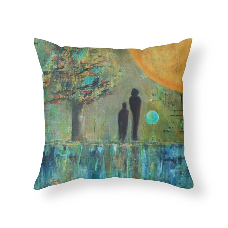 Beyond Home Throw Pillow by C. Cooley's Artist Shop