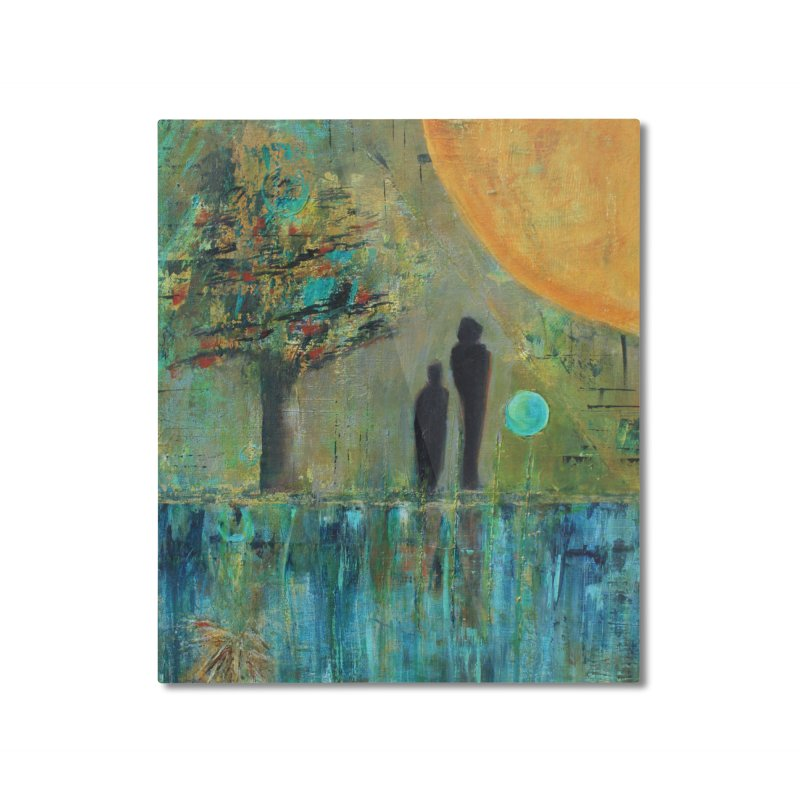 Beyond Home Mounted Aluminum Print by C. Cooley's Artist Shop
