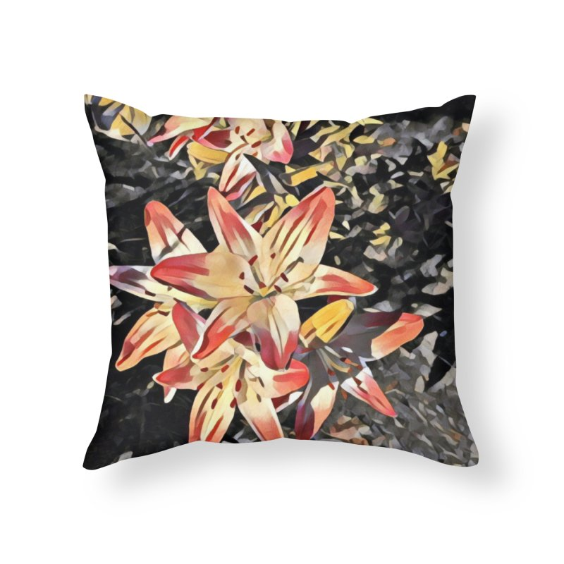 Gothic Lily Home Throw Pillow by C. Cooley's Artist Shop