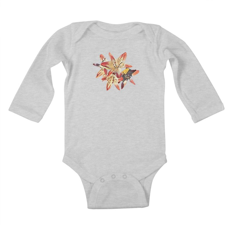 Gothic Lily Kids Baby Longsleeve Bodysuit by C. Cooley's Artist Shop