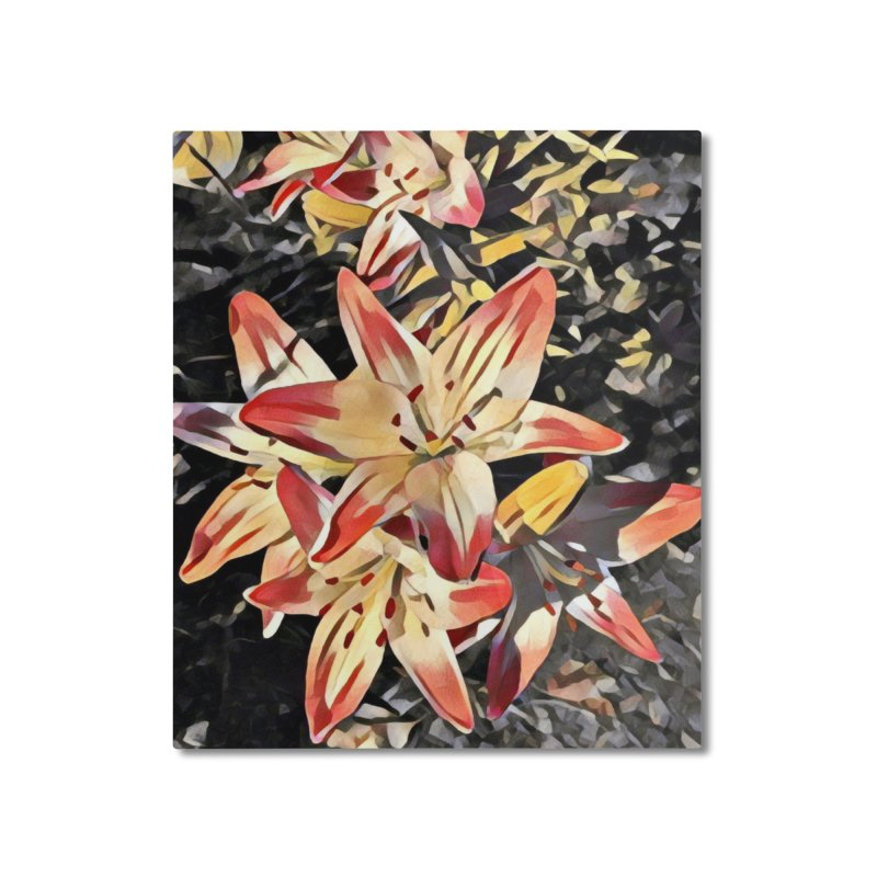 Gothic Lily Home Mounted Aluminum Print by C. Cooley's Artist Shop