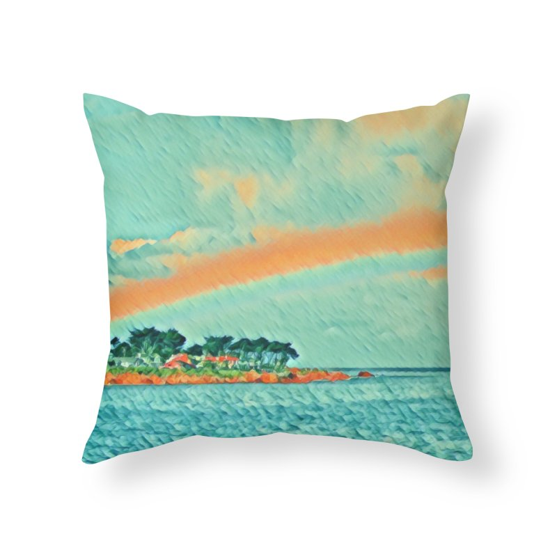 Pacific Home Throw Pillow by C. Cooley's Artist Shop