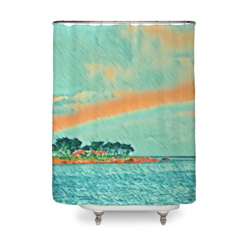 Pacific Home Shower Curtain by C. Cooley's Artist Shop