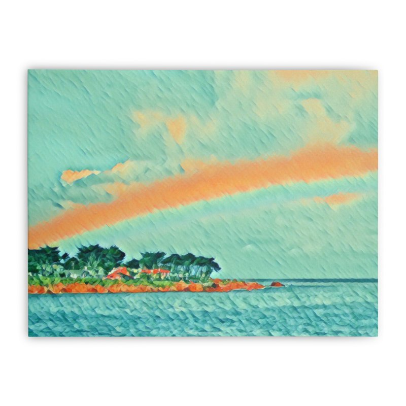Pacific Home Stretched Canvas by C. Cooley's Artist Shop