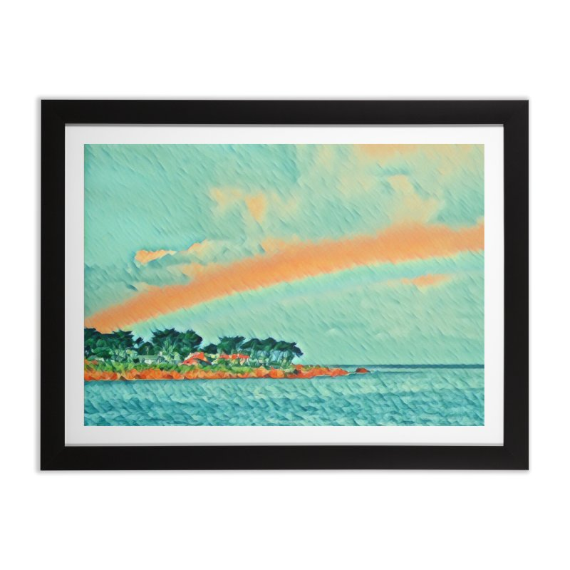 Pacific Home Framed Fine Art Print by C. Cooley's Artist Shop