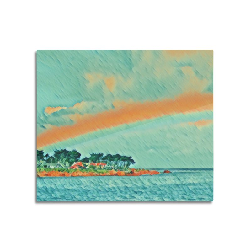 Pacific Home Mounted Aluminum Print by C. Cooley's Artist Shop
