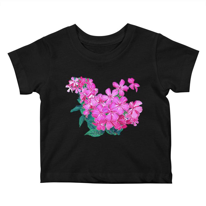 Garden Pink Kids Baby T-Shirt by C. Cooley's Artist Shop