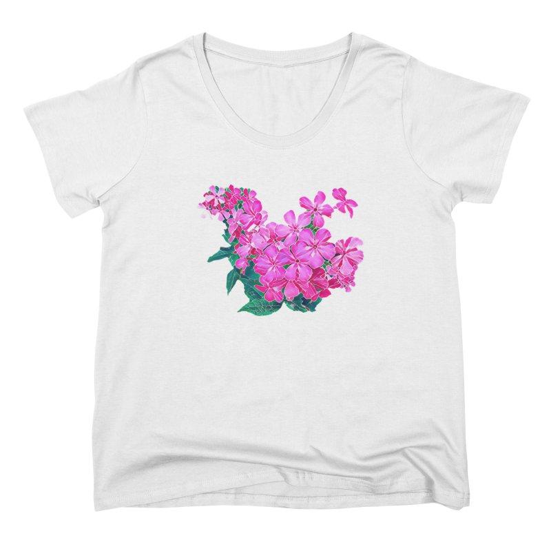 Garden Pink Women's Scoop Neck by C. Cooley's Artist Shop