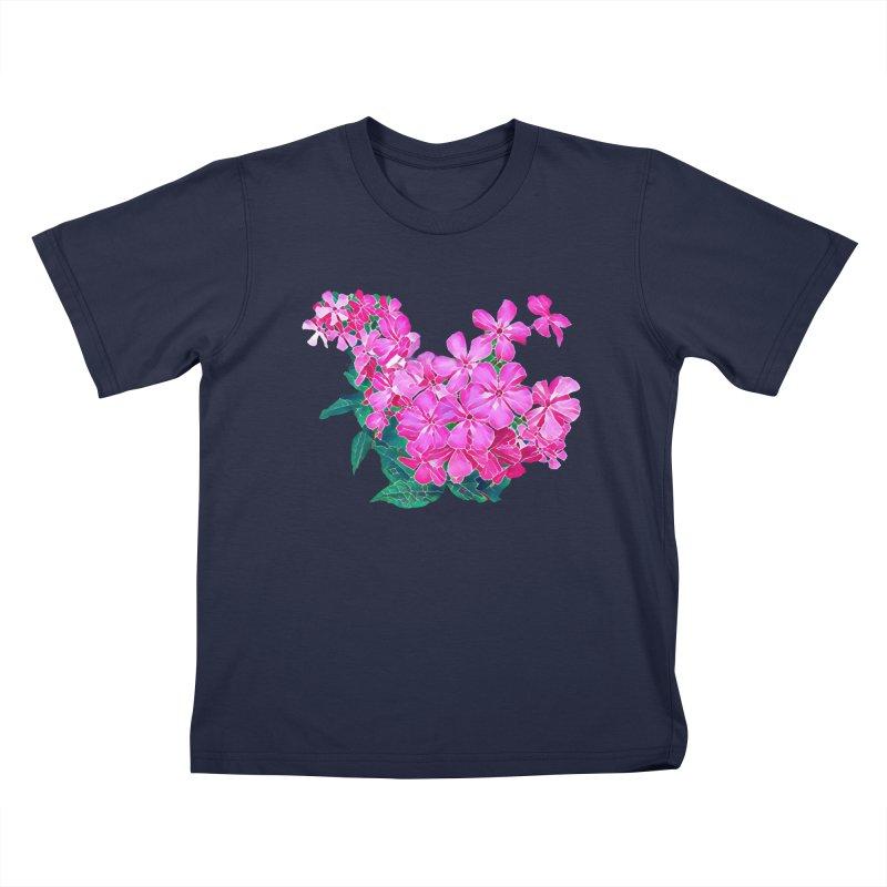 Garden Pink Kids T-Shirt by C. Cooley's Artist Shop