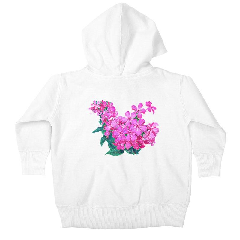 Garden Pink Kids Baby Zip-Up Hoody by C. Cooley's Artist Shop