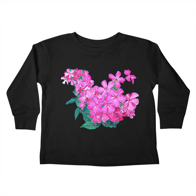 Garden Pink Kids Toddler Longsleeve T-Shirt by C. Cooley's Artist Shop