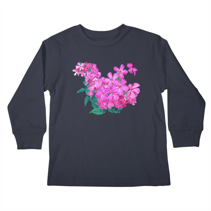 Garden Pink Kids Longsleeve T-Shirt by C. Cooley's Artist Shop