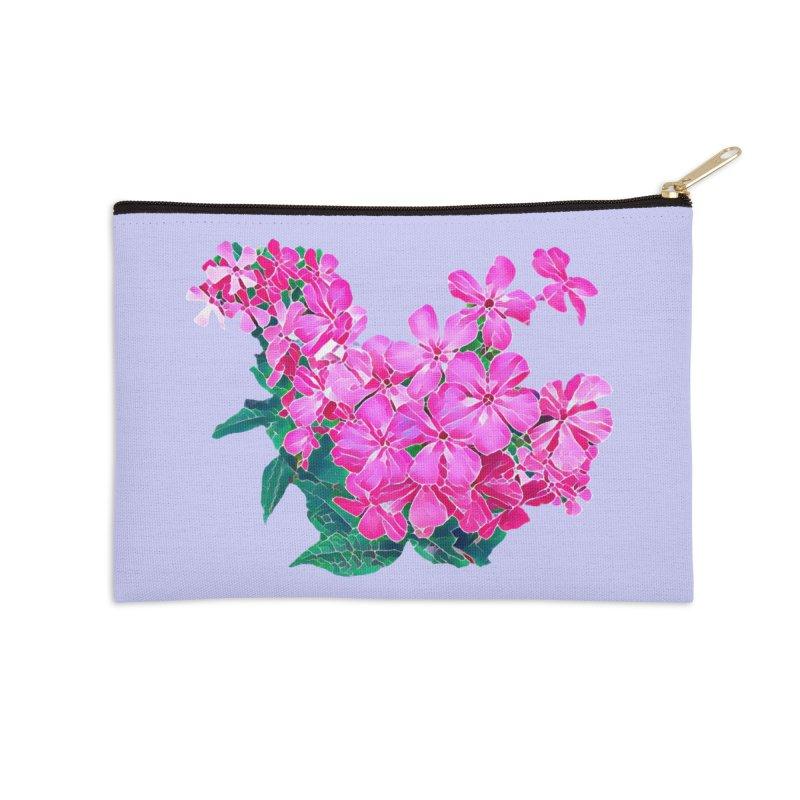 Garden Pink Accessories Zip Pouch by C. Cooley's Artist Shop