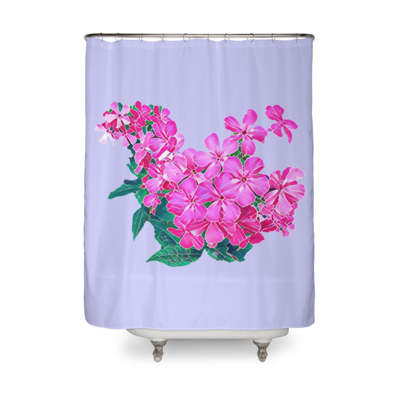 Garden Pink Home Shower Curtain by C. Cooley's Artist Shop