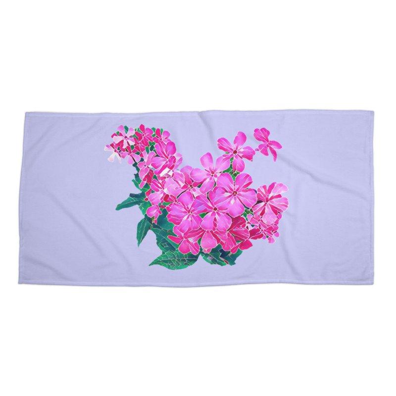 Garden Pink Accessories Beach Towel by C. Cooley's Artist Shop