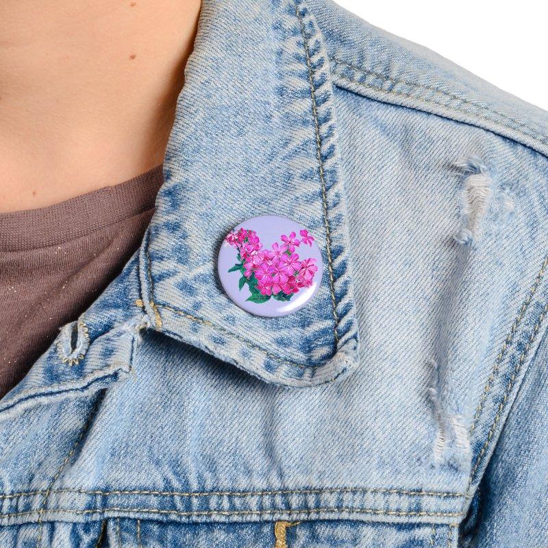 Garden Pink Accessories Button by C. Cooley's Artist Shop