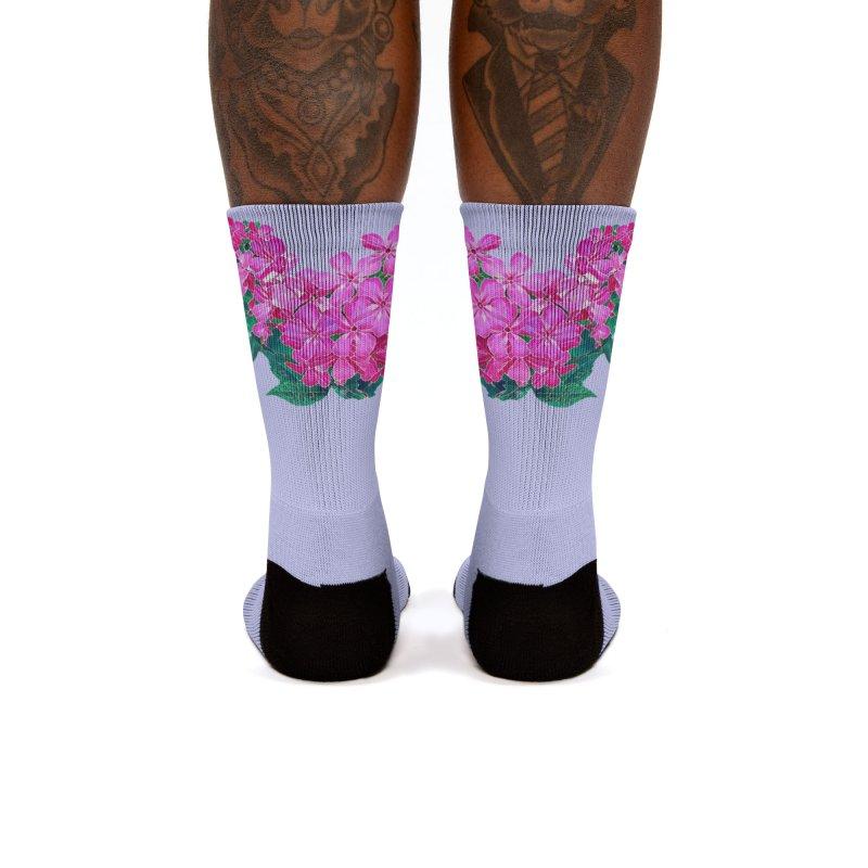 Garden Pink Women's Socks by C. Cooley's Artist Shop
