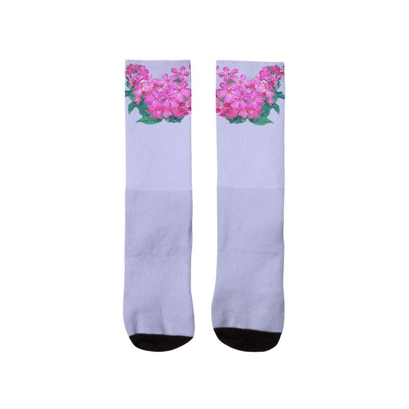 Garden Pink Men's Socks by C. Cooley's Artist Shop