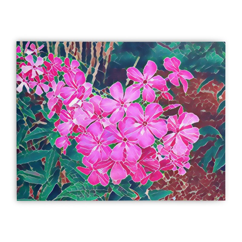 Garden Pink Home Stretched Canvas by C. Cooley's Artist Shop