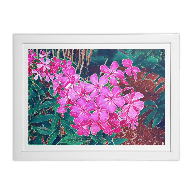 Garden Pink Home Framed Fine Art Print by C. Cooley's Artist Shop