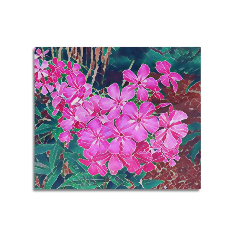 Garden Pink Home Mounted Aluminum Print by C. Cooley's Artist Shop