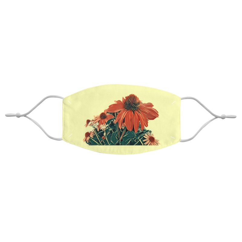 Dreamy Coneflowers Accessories Face Mask by C. Cooley's Artist Shop