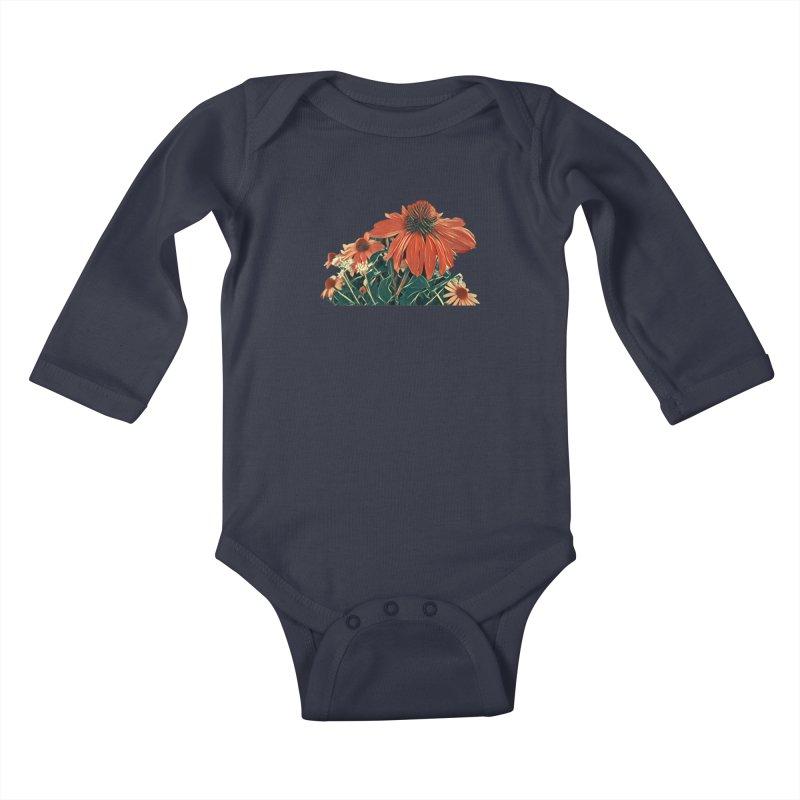 Dreamy Coneflowers Kids Baby Longsleeve Bodysuit by C. Cooley's Artist Shop