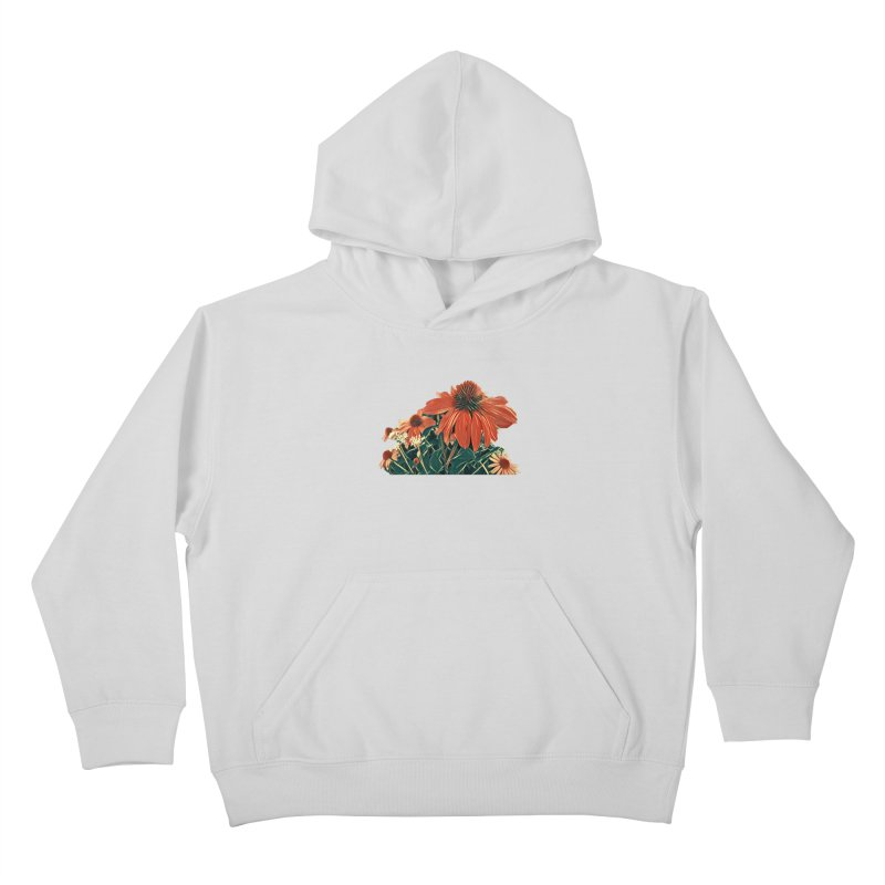 Dreamy Coneflowers Kids Pullover Hoody by C. Cooley's Artist Shop
