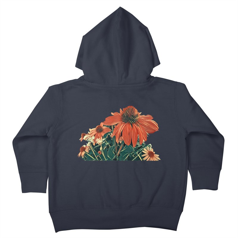 Dreamy Coneflowers Kids Toddler Zip-Up Hoody by C. Cooley's Artist Shop