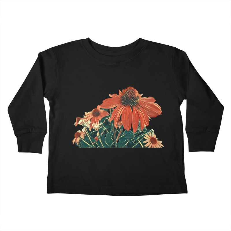 Dreamy Coneflowers Kids Toddler Longsleeve T-Shirt by C. Cooley's Artist Shop